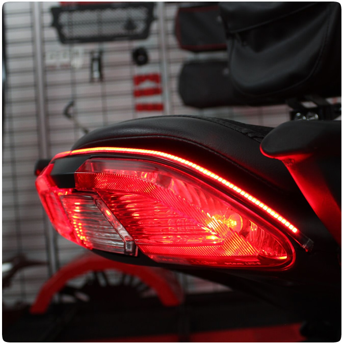 Tricled Run Brake Turn Signal Led Rear Accent Tail Light Strip For The Can Am Spyder F3 F3s