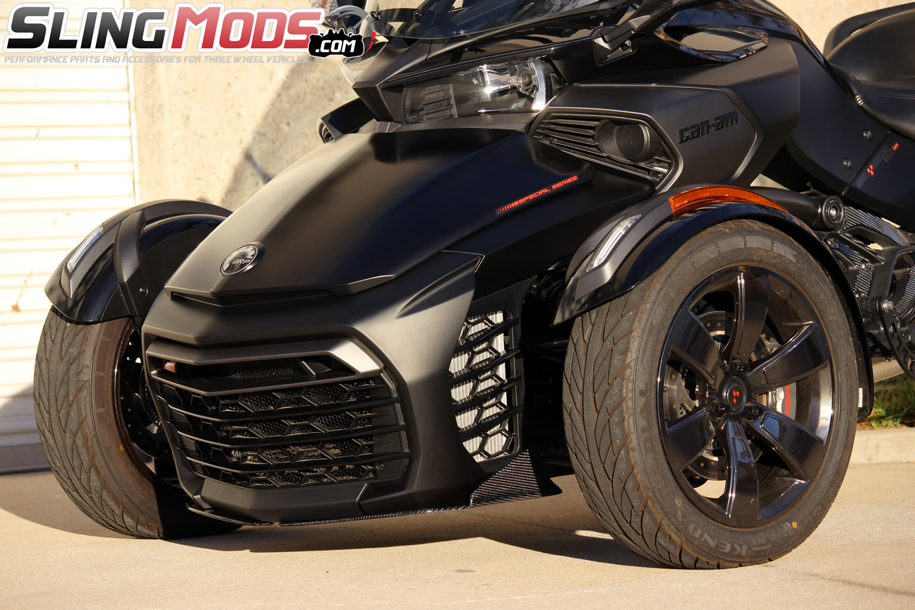 can am spyder f3 carbon fiber front splitter with canards. Black Bedroom Furniture Sets. Home Design Ideas