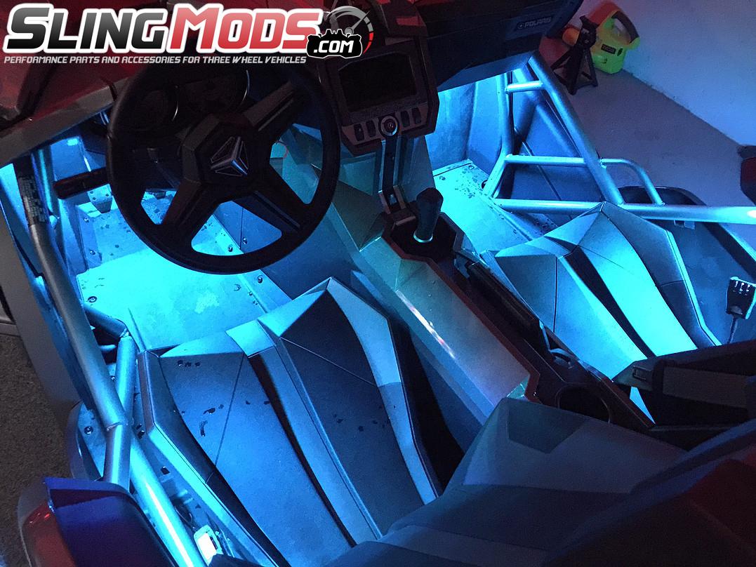 ... Kit #3 RGB Full Interior Mood Lighting Underglow Add-on Kit for the Polaris & Underglow Interior Mood Lighting Add On Kit for the Polaris Slingshot