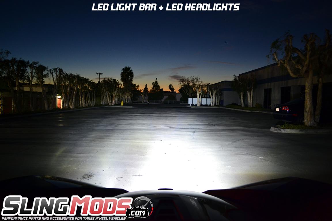 Polaris Slingshot LED Front Mount Light Bar by TricLED