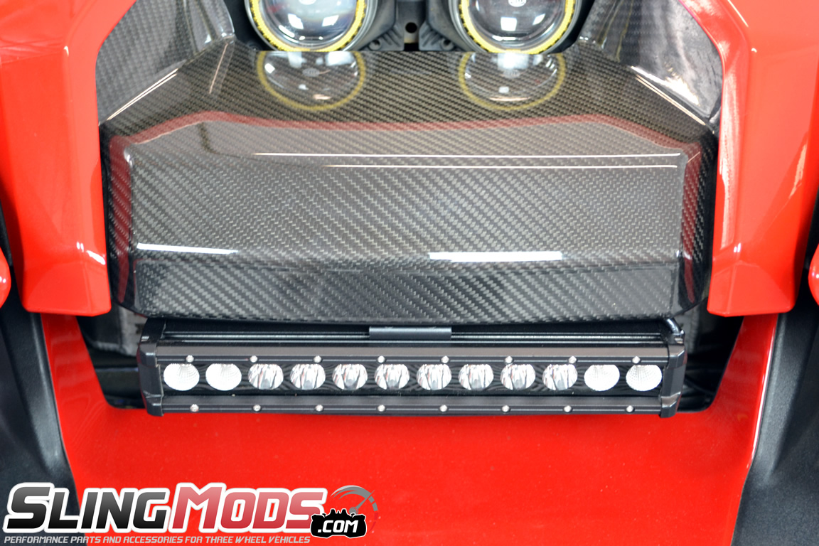 Polaris slingshot led front mount light bar by tricled tricled slimline front mount led light bar wharness for the polaris slingshot aloadofball Image collections