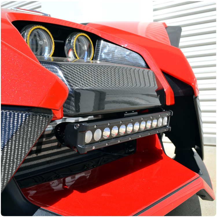 Polaris slingshot led front mount light bar by tricled tricled slimline front mount led light bar wharness for the polaris slingshot aloadofball Images