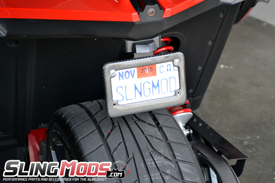 carbon fiber license plate frame for the polaris slingshot. Black Bedroom Furniture Sets. Home Design Ideas