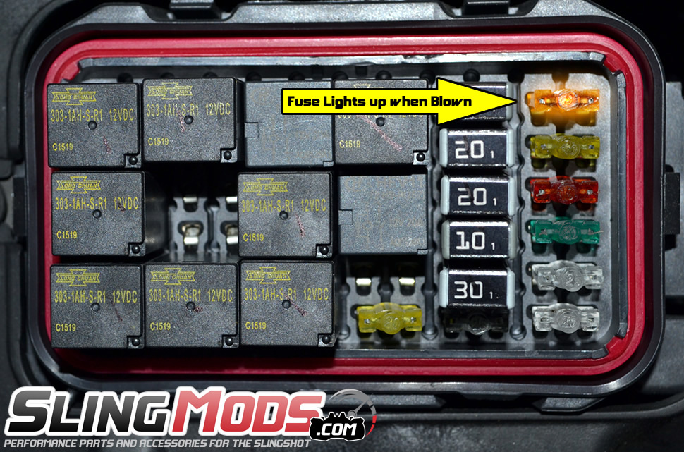 cool new item check your fuses much easier polaris slingshot forum
