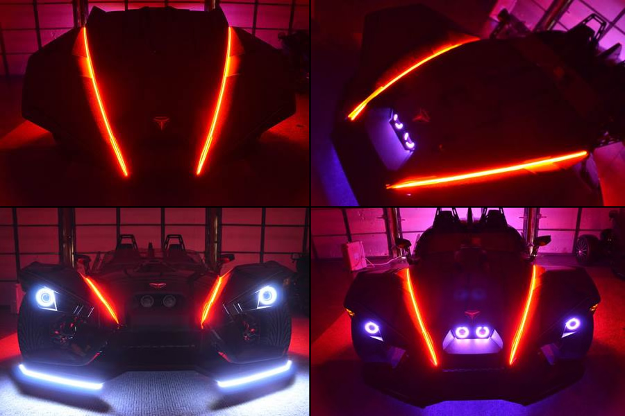 Polaris Slingshot Led Accent Hood Strips By Tricled