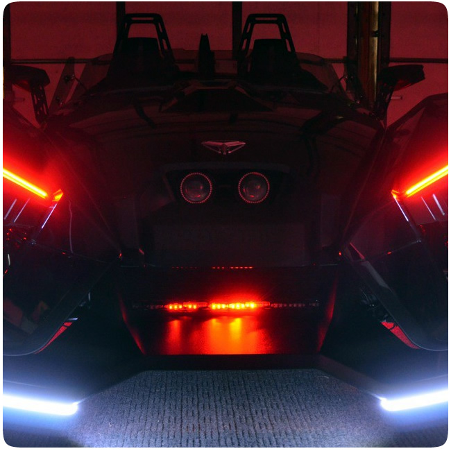 polaris slingshot rgb night rider light with remote. Black Bedroom Furniture Sets. Home Design Ideas