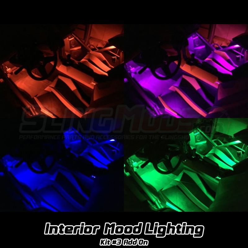 Kit 3 Standard Rgb Led Full Interior Mood Lighting Underglow Add On For The Polaris Slingshot