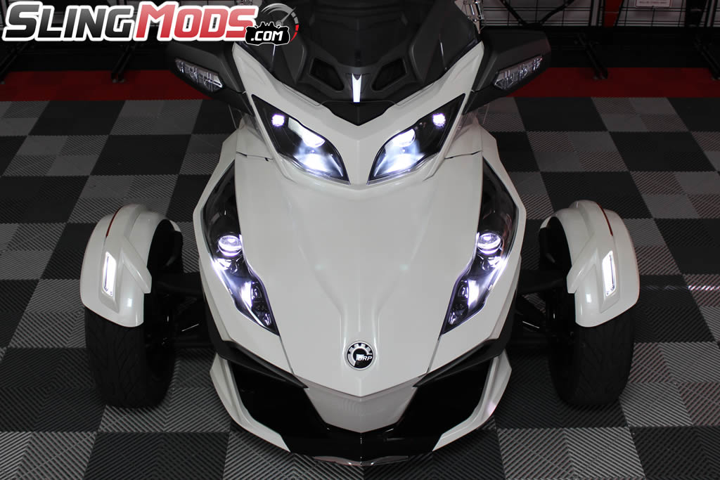 Led Fog Light Conversion Kit For The Can Am Spyder Rt Pair
