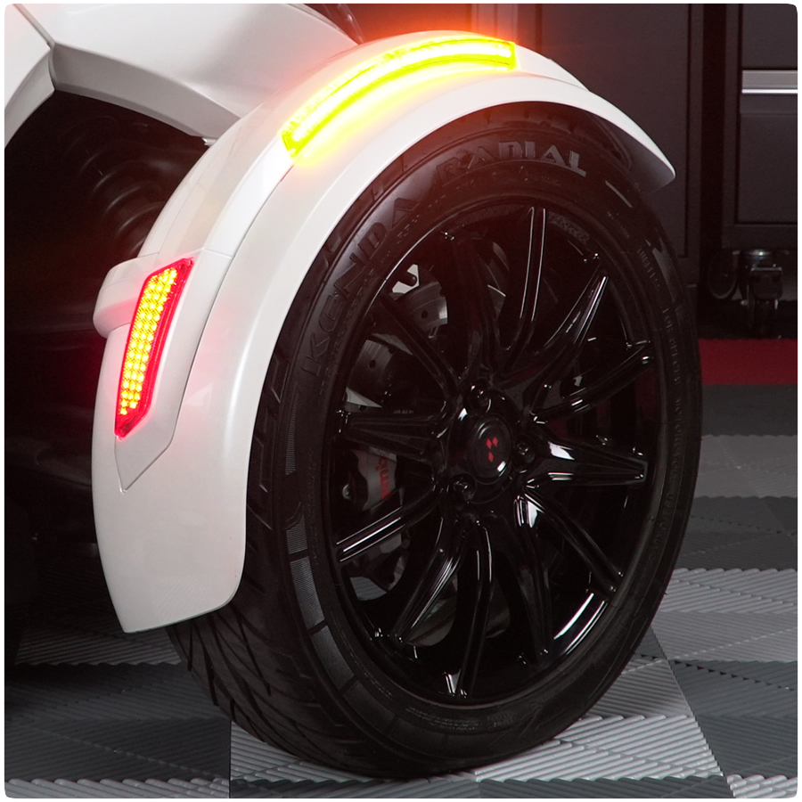 Front Fender Reflectors with Sequential LED Turn Signals & Running Lights  for the Can-Am Spyder (2013-2018) (Ver 2 0)