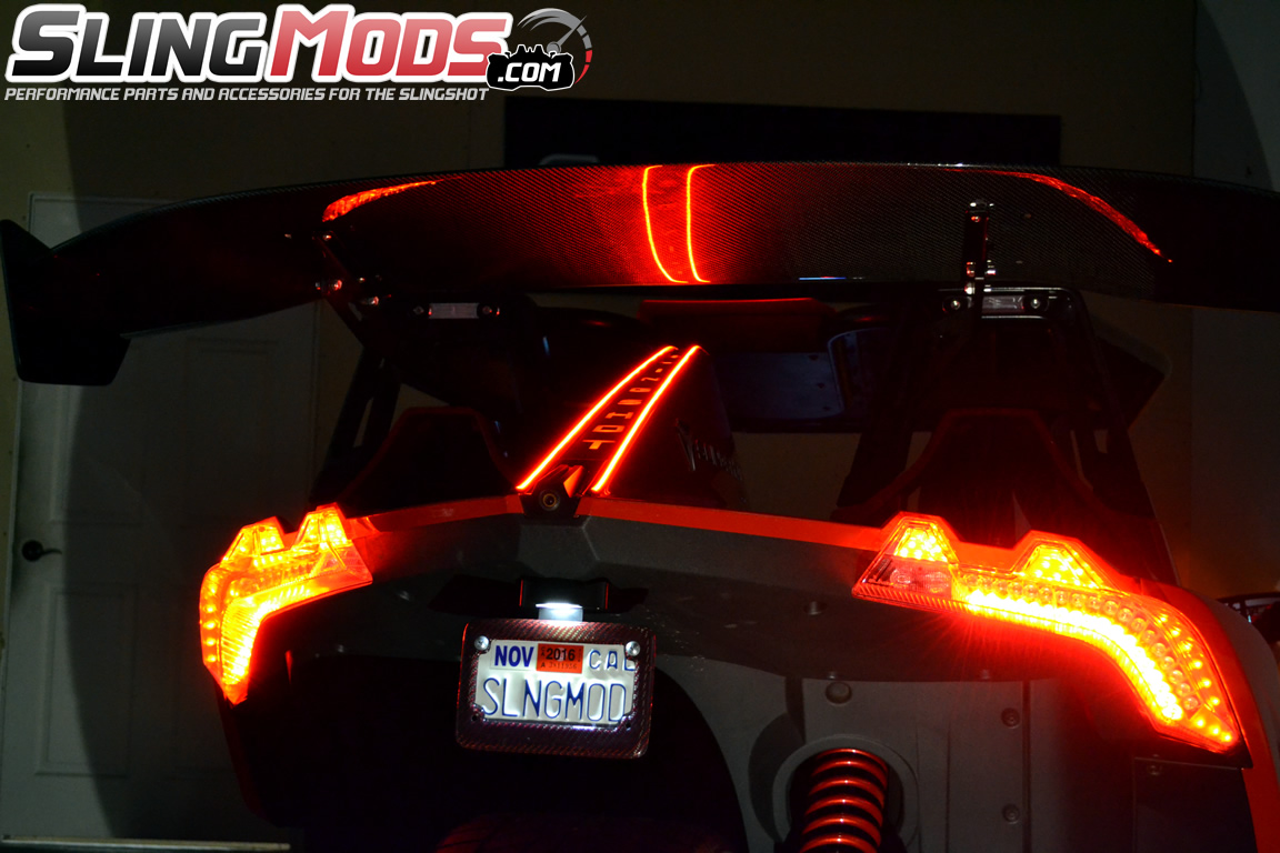 polaris slingshot led tail fin running brake light strips by tricled. Black Bedroom Furniture Sets. Home Design Ideas