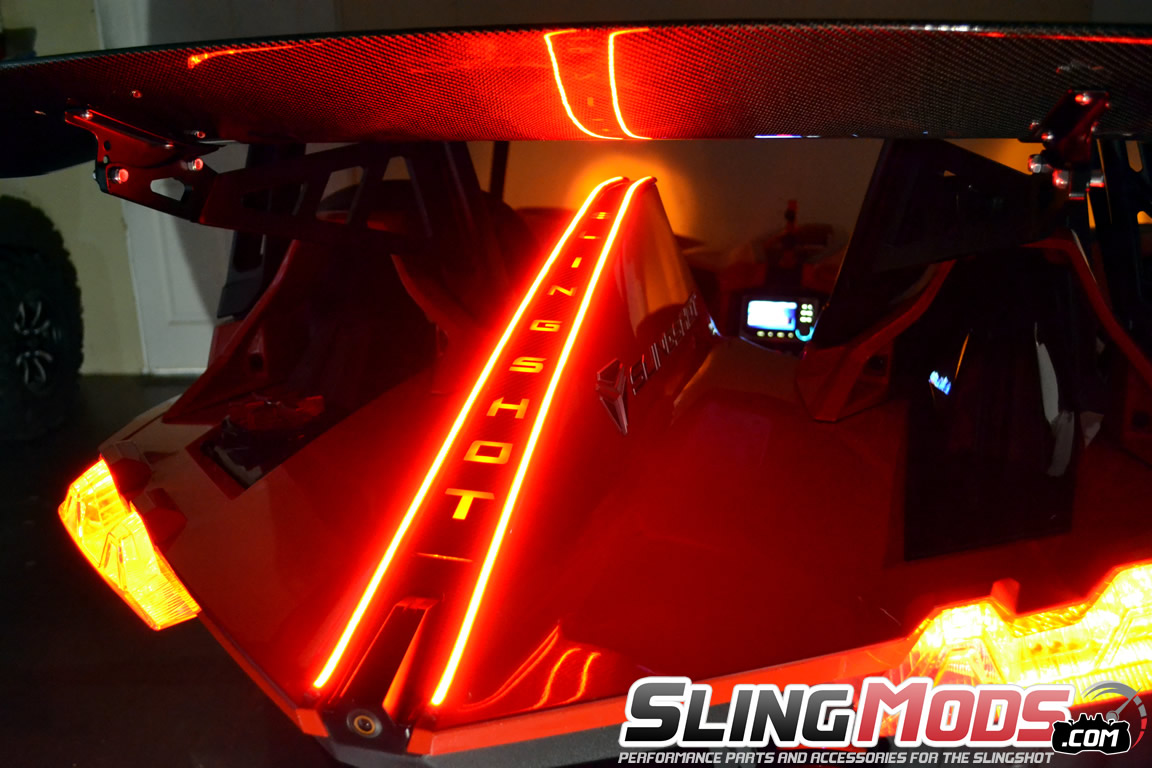 Polaris slingshot led tail fin running brake light strips by tricled tricled rear tail fin led running light brake light strips for the polaris slingshot aloadofball Gallery