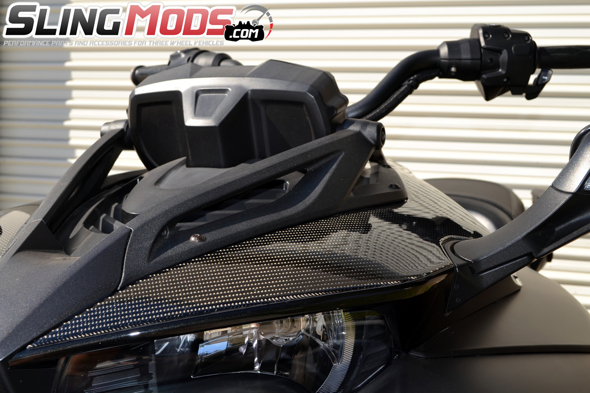 tufskinz peel stick upper front fairing accent kit for the can am spyder f3