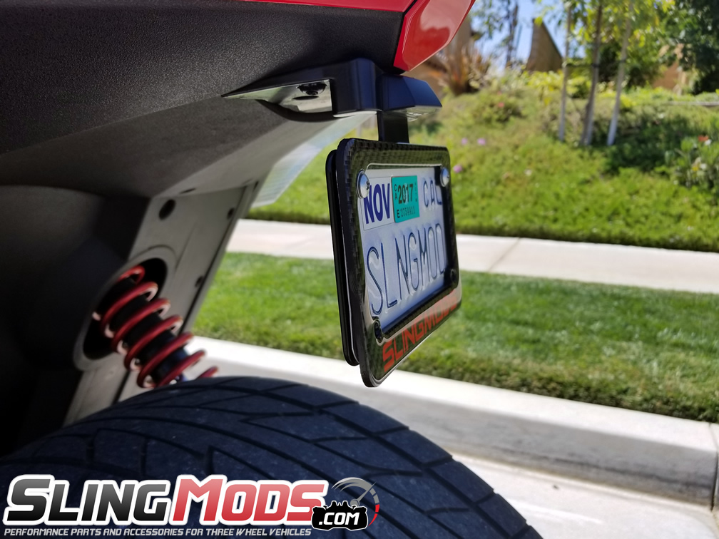 Personalized Motorcycle License Plate Frame Designer with Customizable Color & Text Field