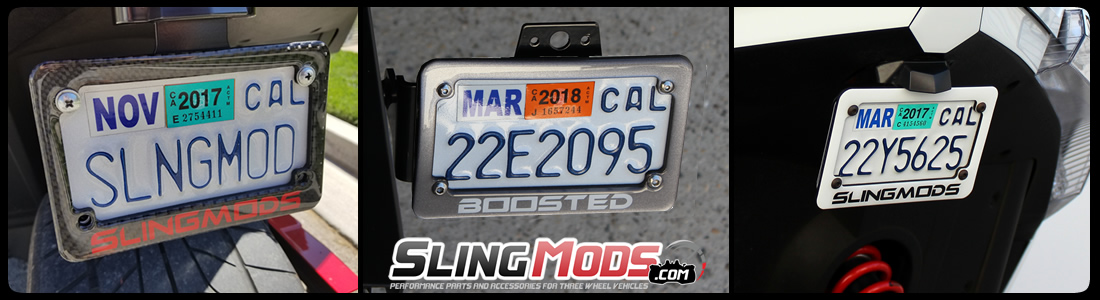 personalized motorcycle license plate frame designer