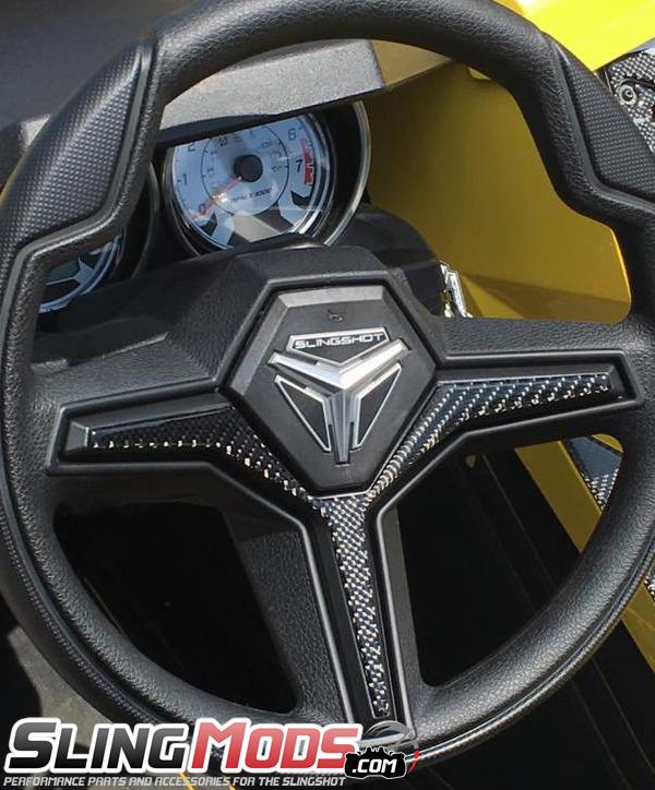 Polaris Slingshot Domed Carbon Fiber Interior Trim Kit By Tufskinz